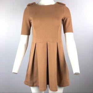 Zara Women's Tan Mini Dress M